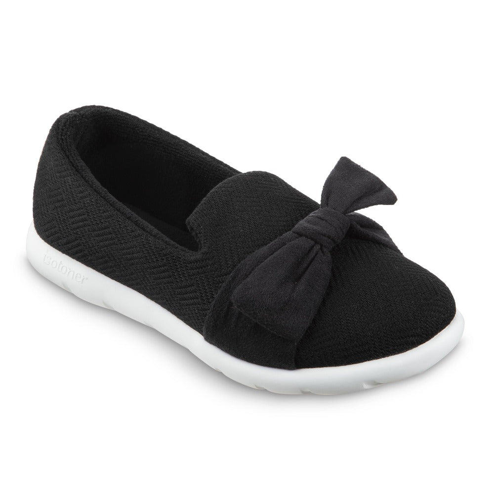 Women's Zenz Hatch Knit Slip-On with Tie in Black Right Angled View