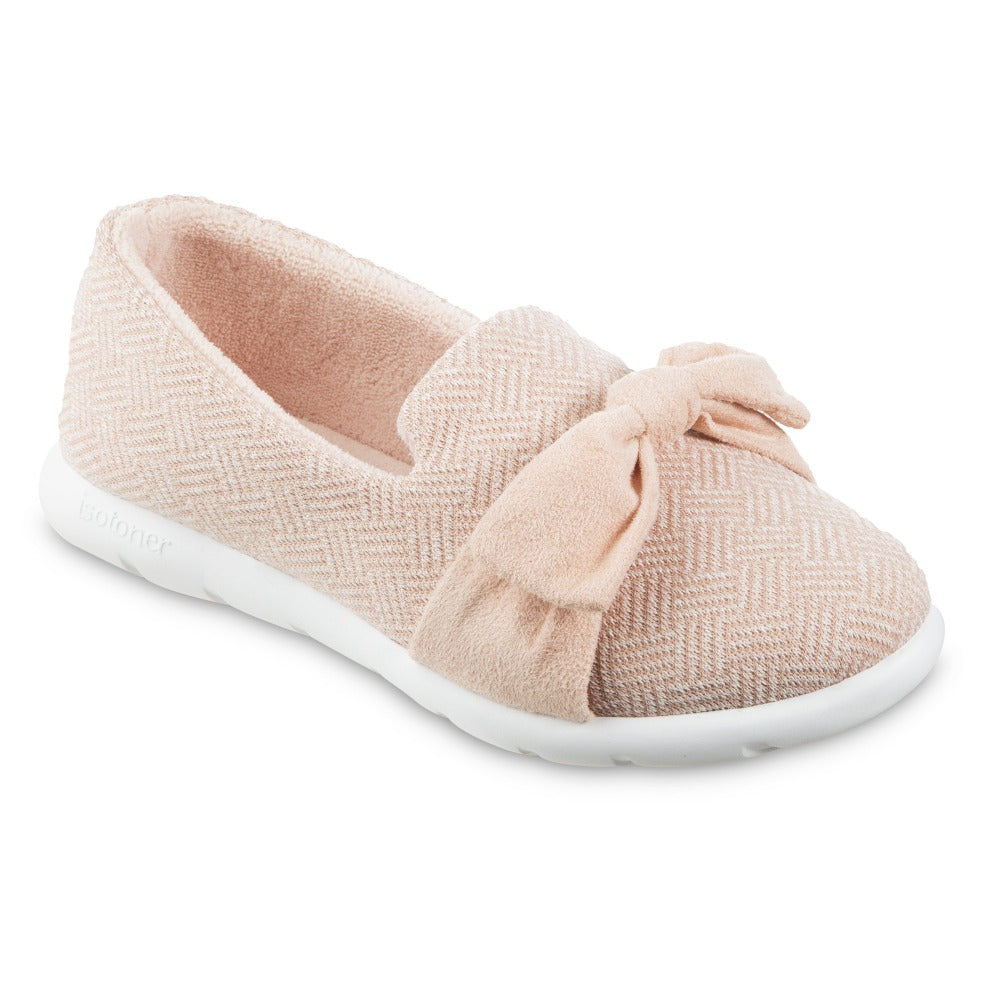 Women's Zenz Hatch Knit Slip-On with Tie in Evening Sands Pink Right Angled View