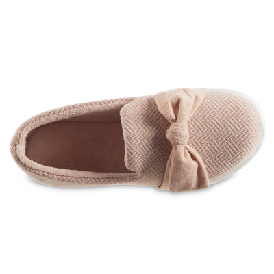 Women's Zenz Hatch Knit Slip-On with Tie in Evening Sands Pink Inside Top View