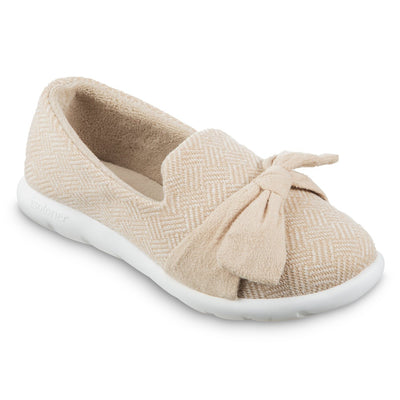 Women's Zenz Hatch Knit Slip-On with Tie in Sandtrap Right Angled View