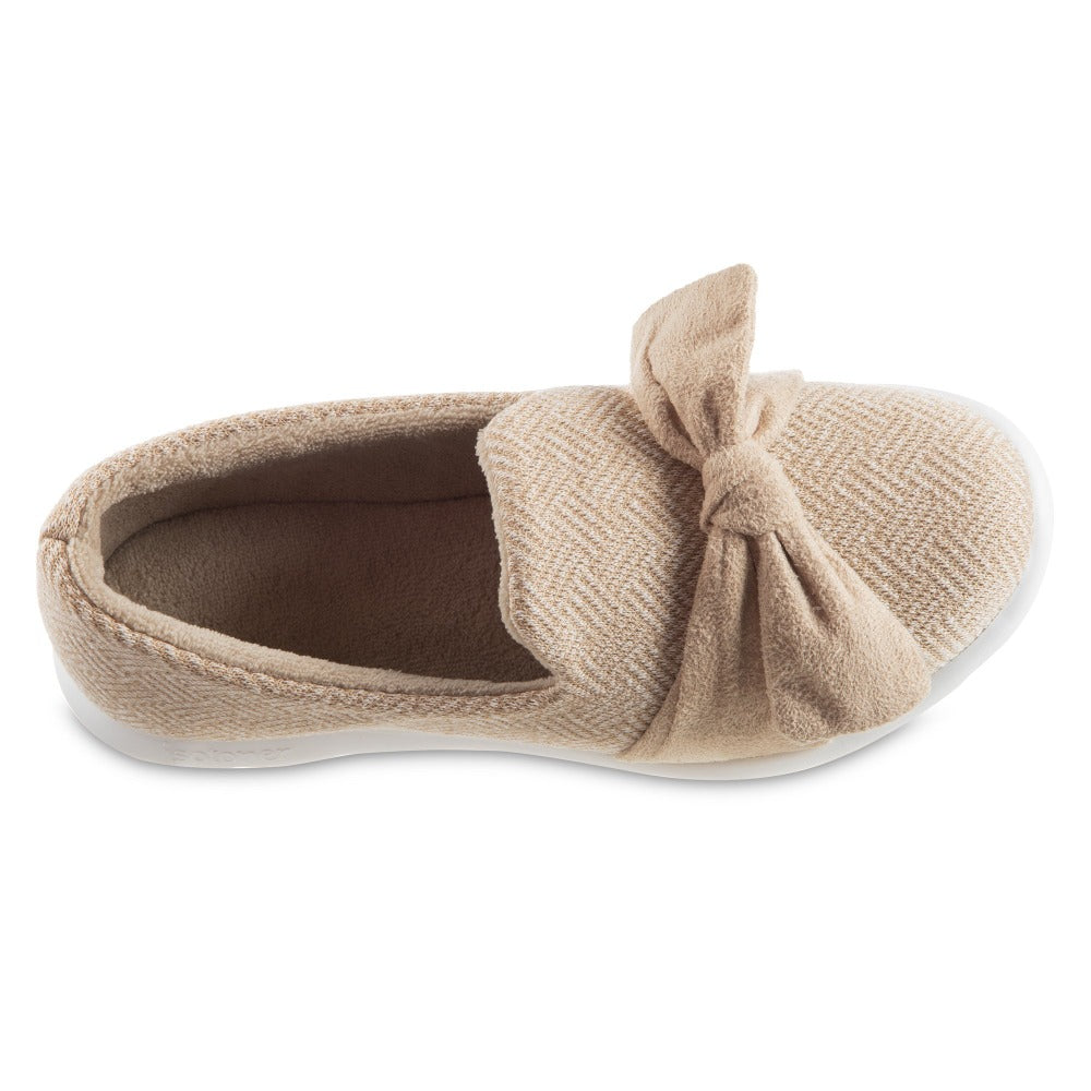 Women's Zenz Hatch Knit Slip-On with Tie in Sandtrap Top Inside View