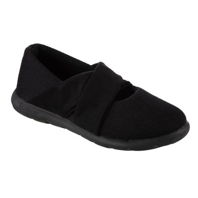 Women's Zenz Hatch Knit Ballerina in Black Right Angled View