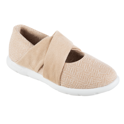 Women's Zenz Hatch Knit Ballerina in Sandtrap Right Angled View