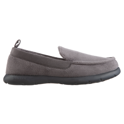 Isotoner with Everywear™ Men's Microterry Moccasin in Ash Profile