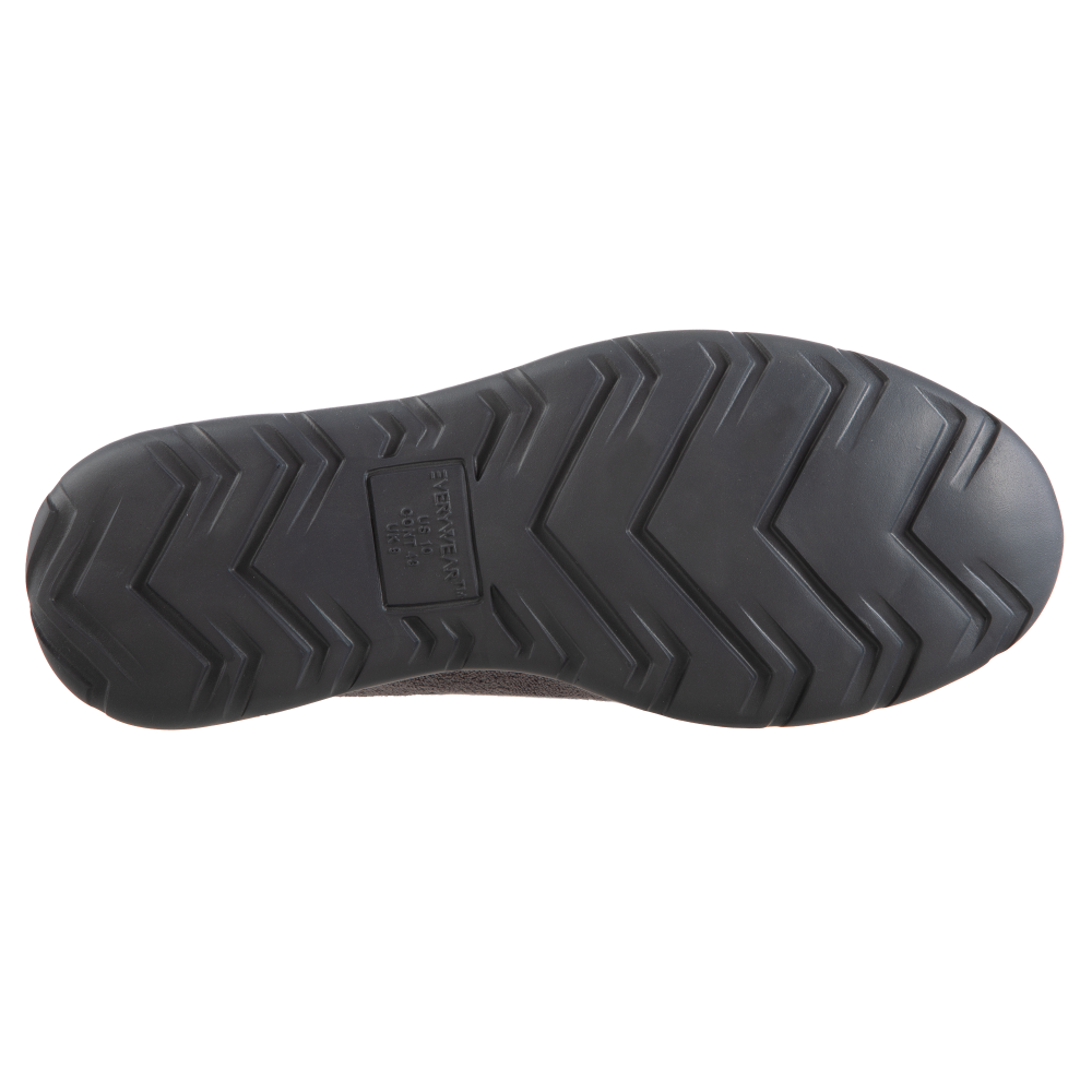 Isotoner with Everywear™ Men's Microterry Moccasin in Ash Bottom Sole Tread
