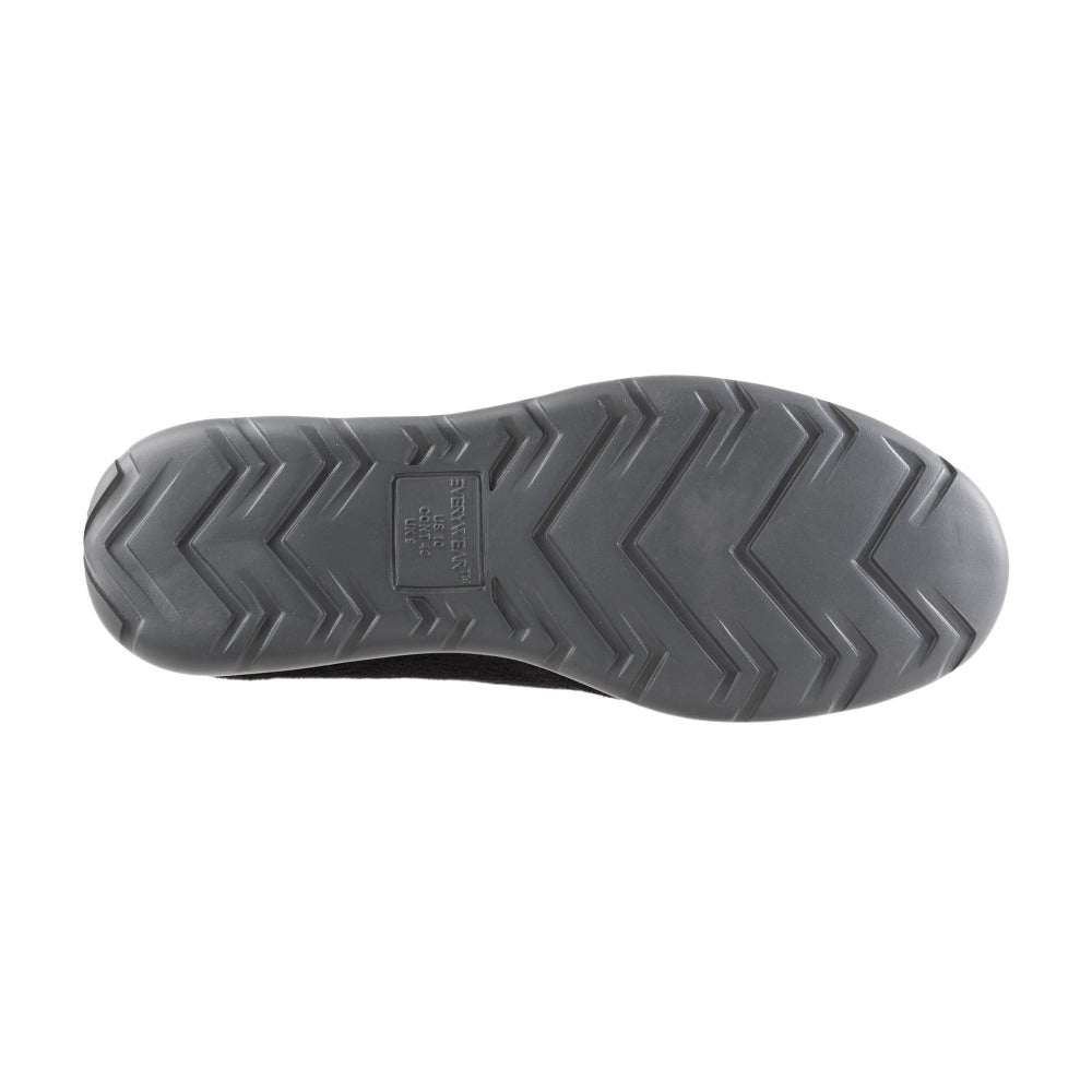 Isotoner with Everywear™ Men's Microterry Moccasin in Black Bottom Sole Tread