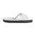 Women's Microterry Satin Trim Wider Width Slide Slippers White 16