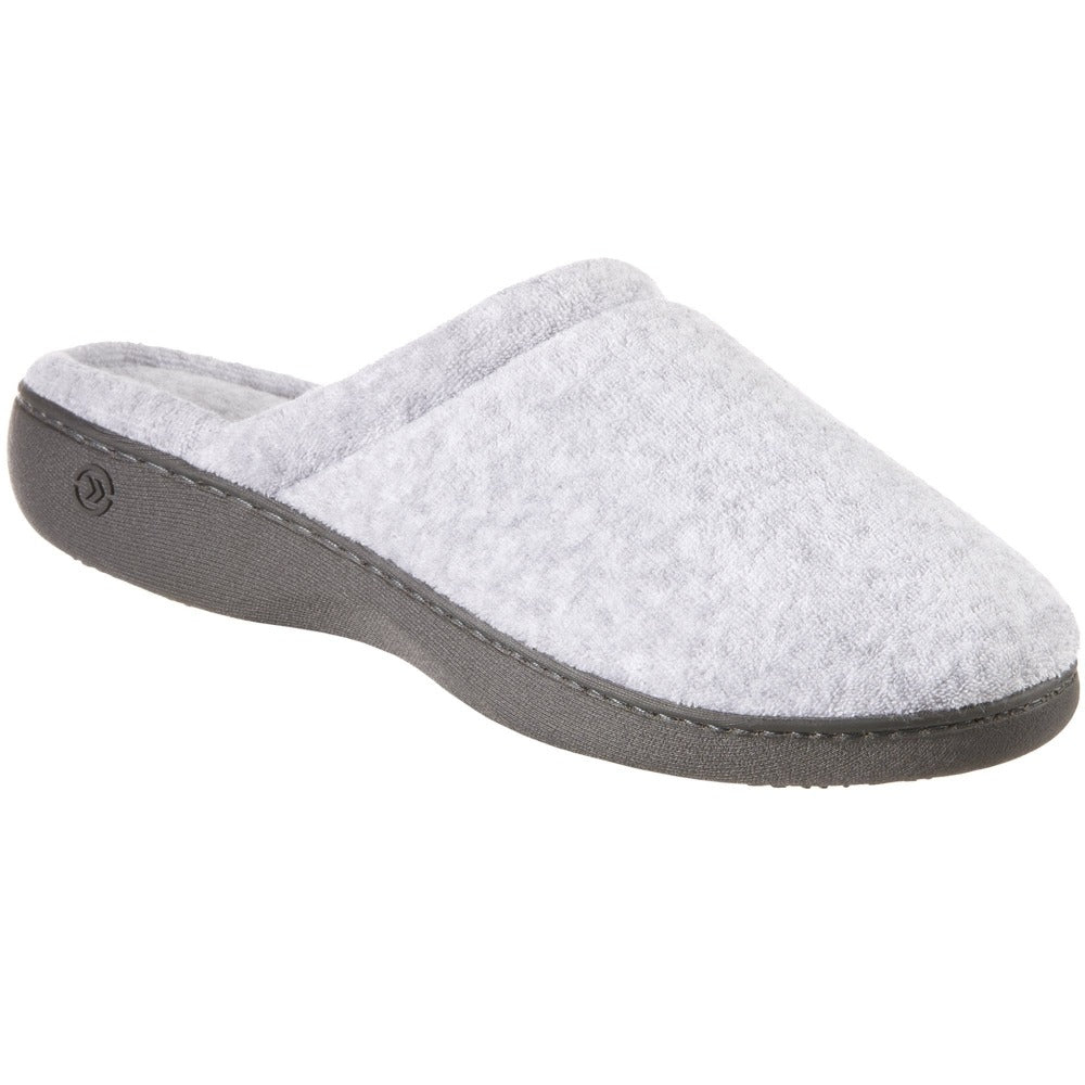 Women's Terry Clog Slippers in Heather Right Angle View