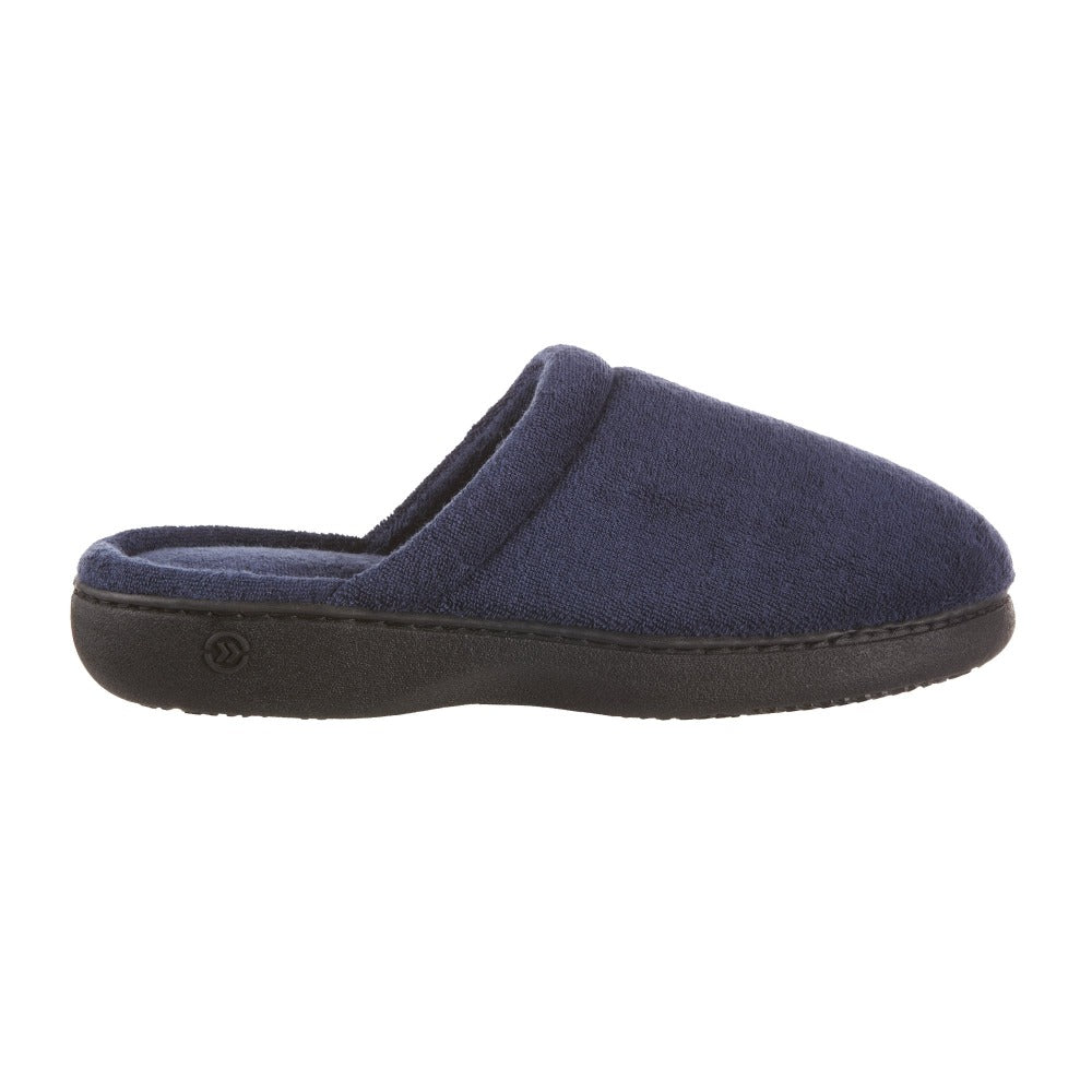 Women's Terry Clog Slippers Navy 6Women's Terry Clog Slippers in Navy Profile