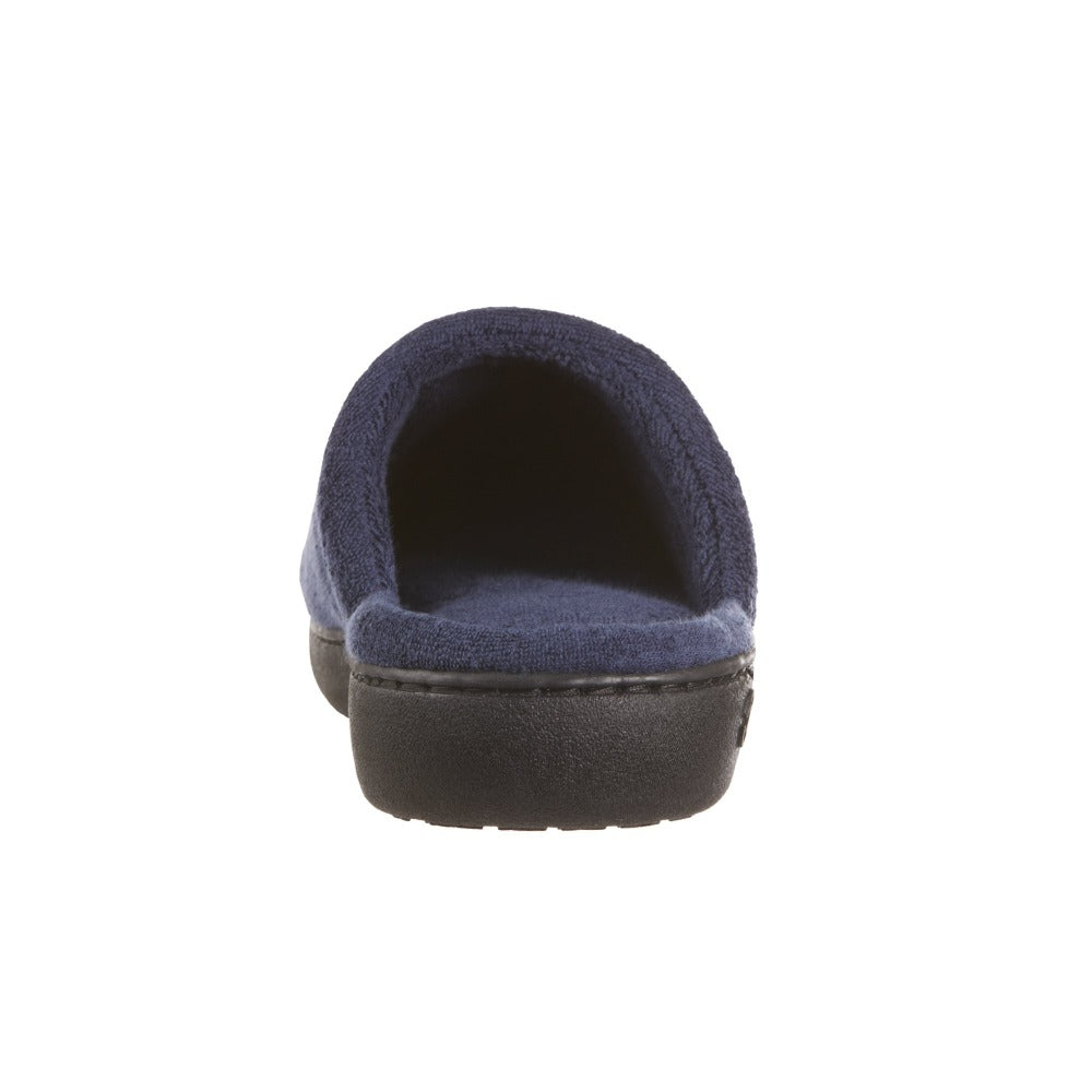 Women's Terry Clog Slippers Navy 6Women's Terry Clog Slippers in Navy Back Heel
