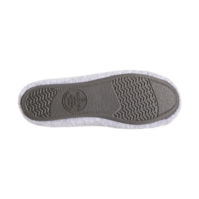 Women's Classic Terry Ballerina Slippers Heather Grey Sole View