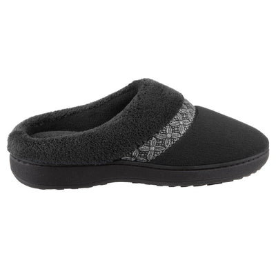 Women's Jenna Microterry Hoodback Slippers Black Profile