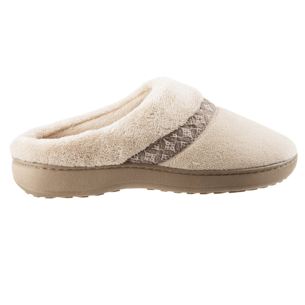 Women's Microterry Jenna Hoodback Slippers in Sandtrap Profile