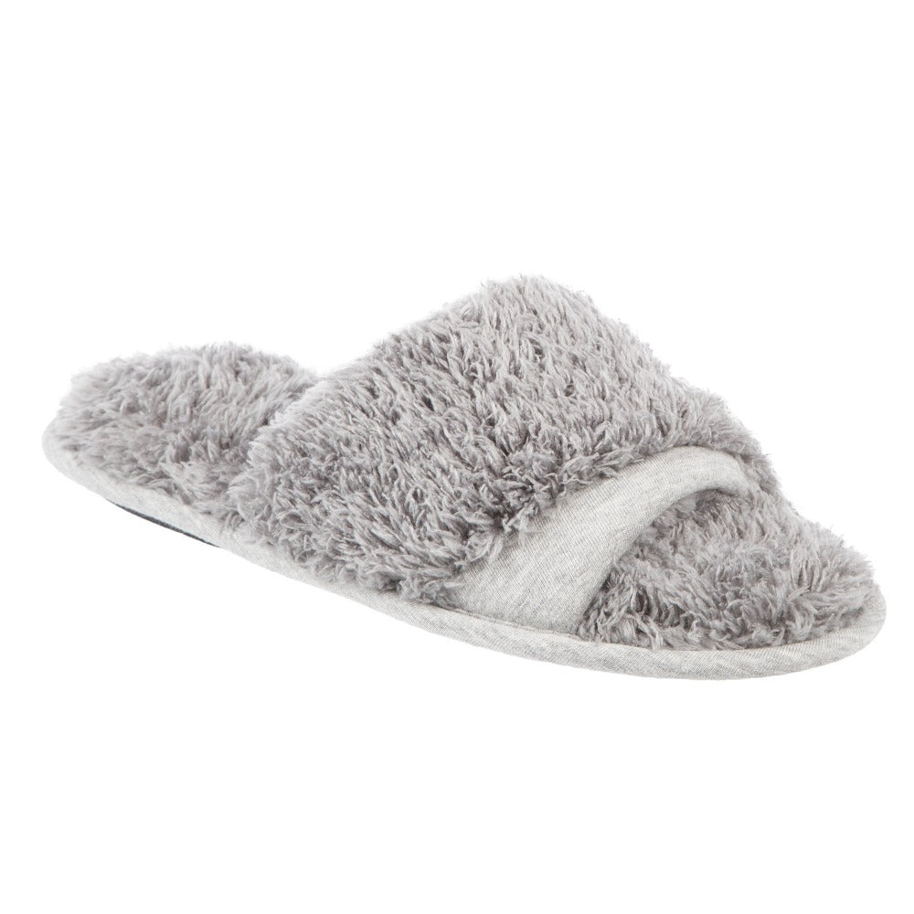 women's jersey and chenille linley slide slipper in grey