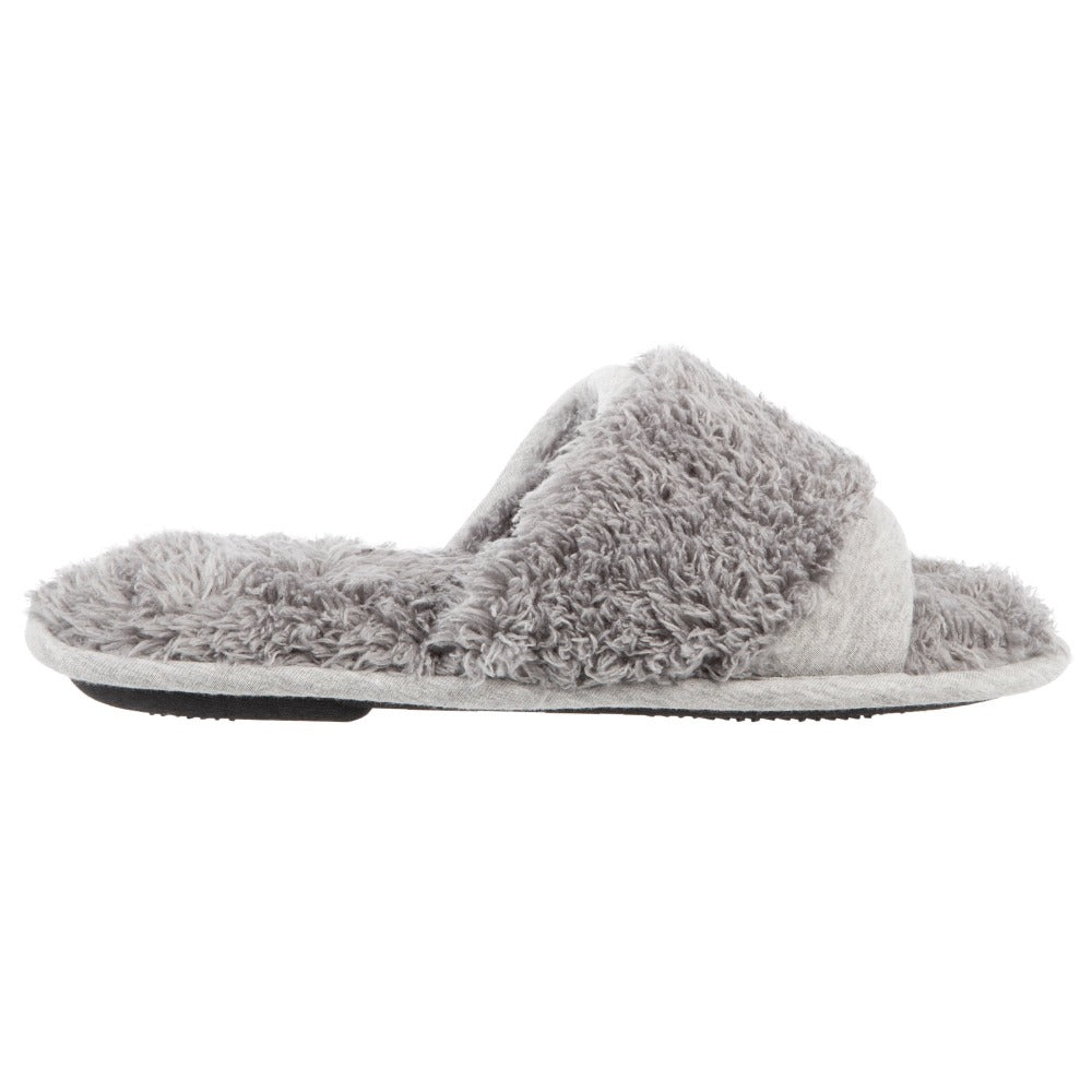 Women's Linley Jersey and Chenille Slide Slippers in Ash Profile