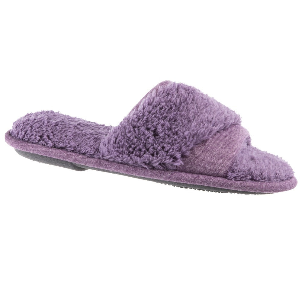 women's jersey and chenille linley slide slipper in purple