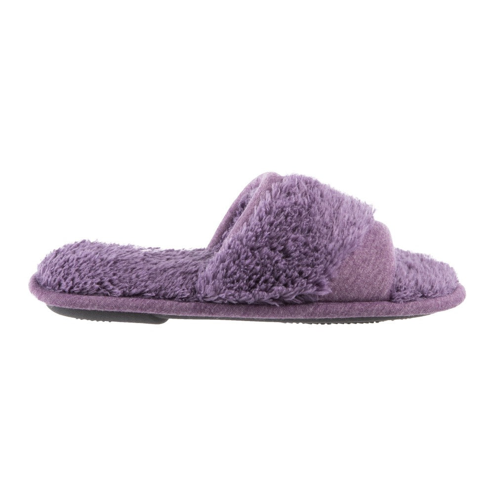 Women's Linley Jersey and Chenille Slide Slippers in Iris Profile