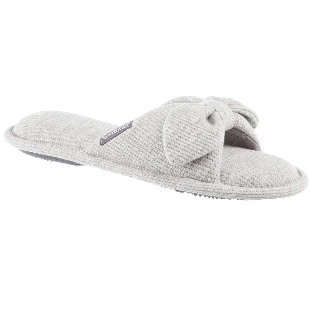 Women's waffle knit dani slide in heather grey
