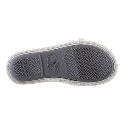 Women's Waffle Knit Dani Slide Slippers in Heather Grey Sole View
