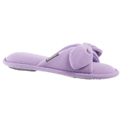 women's dani waffle knit slipper in purple