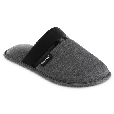Women's Jersey Cambell Clog Slippers in Black Right Angled View