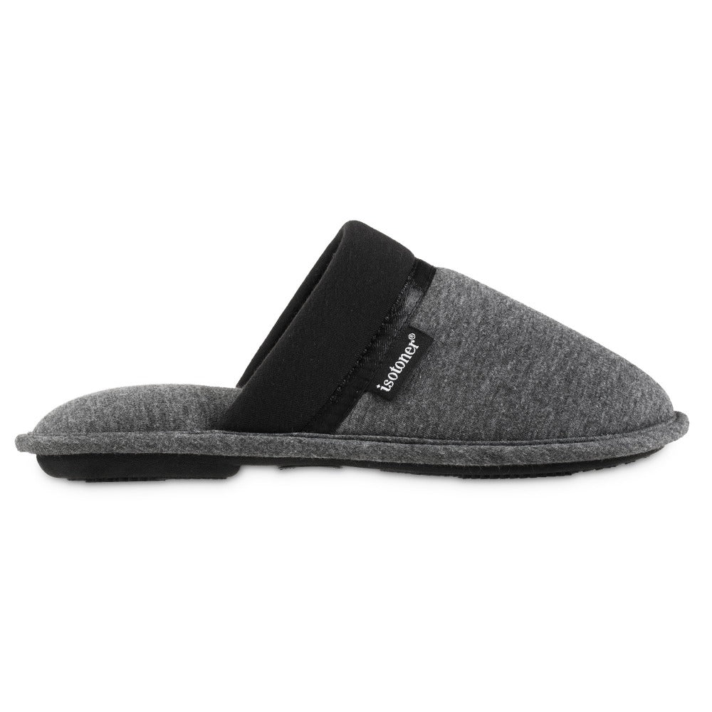 Women's Jersey Cambell Clog Slippers in Black Profile
