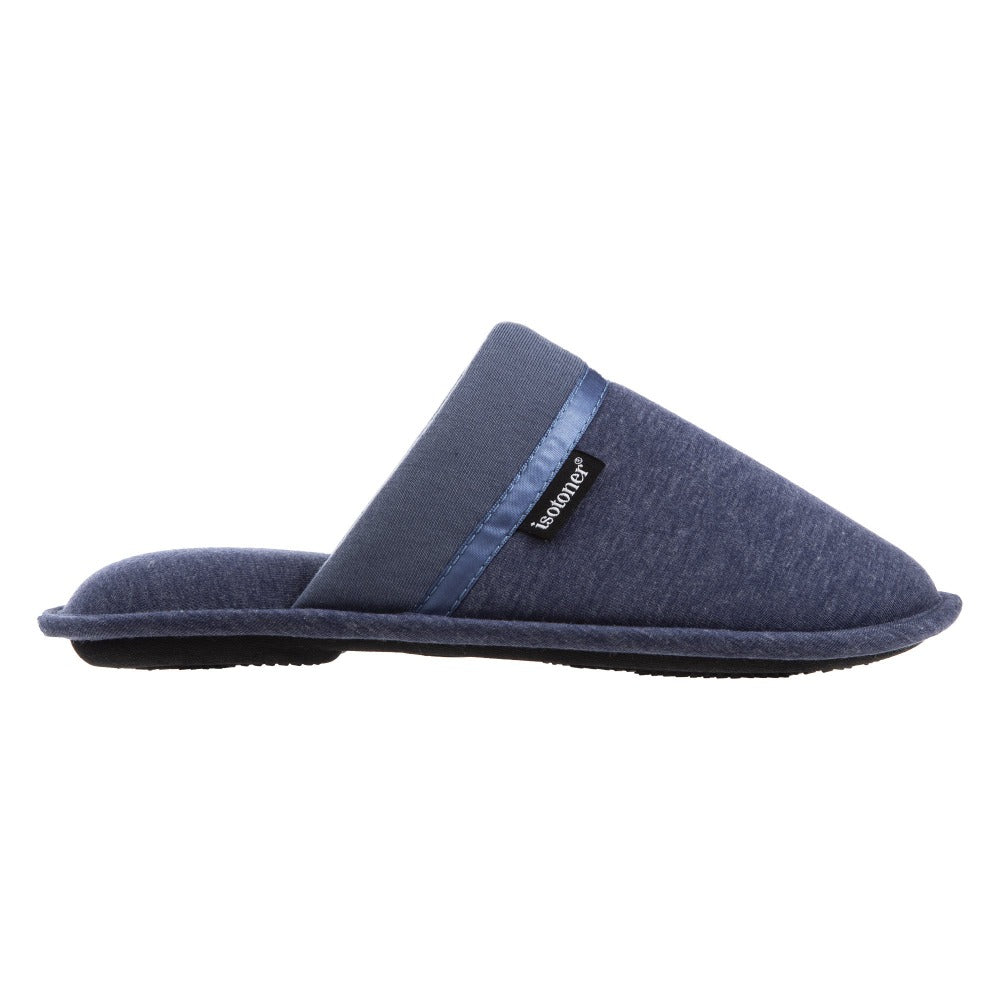 Women's Jersey Cambell Clog Slippers in Navy Blue Profile