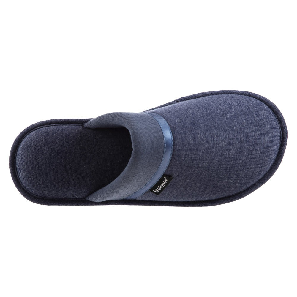 Women's Jersey Cambell Clog Slippers in Navy Blue Inside Top View