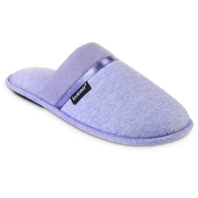 Women's Jersey Cambell Clog Slippers in Periwinkle Right Angled View