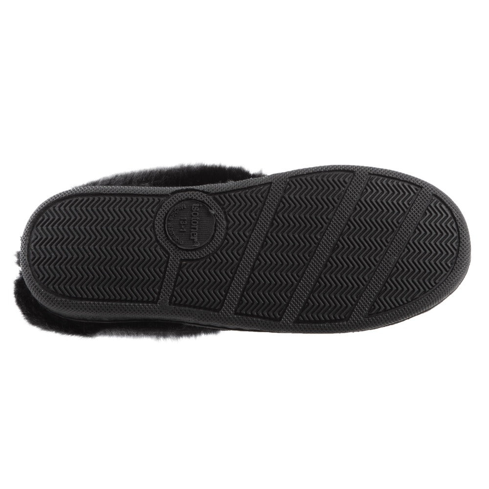 Girl's Wendi Hoodback Slippers in Black Sole View