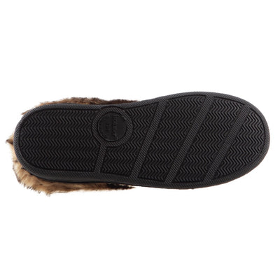 Girl's Wendi Hoodback Slippers in Dark Chocolate (Brown) Bottom Sole Tread