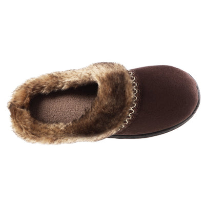 Girl's Wendi Hoodback Slippers in Dark Chocolate (Brown) Inside Top View