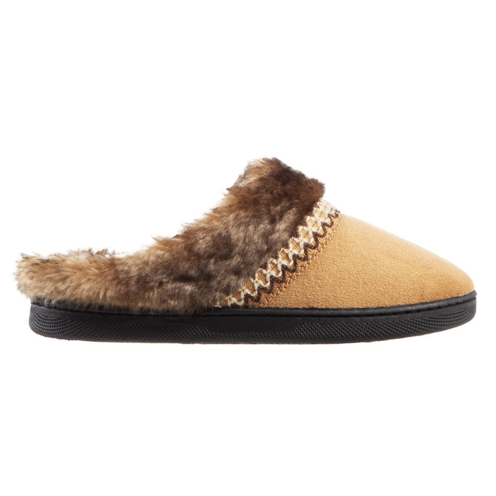 Girl's Wendi Hoodback Slippers in Buckskin (Tan) Side View