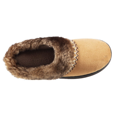 Girl's Wendi Hoodback Slippers in Buckskin (Tan) Inside Top View