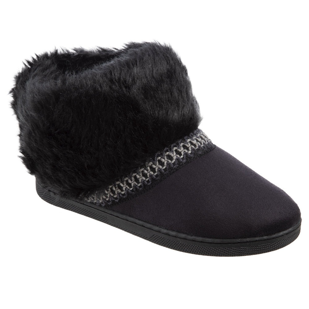 Isotoner Girls Wendi Slipper Boot in Black  Right View