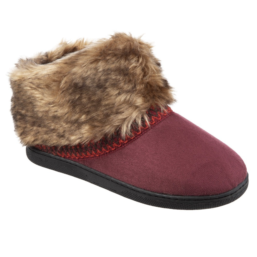 Isotoner Girls Wendi Slipper Boot in Plum Right View