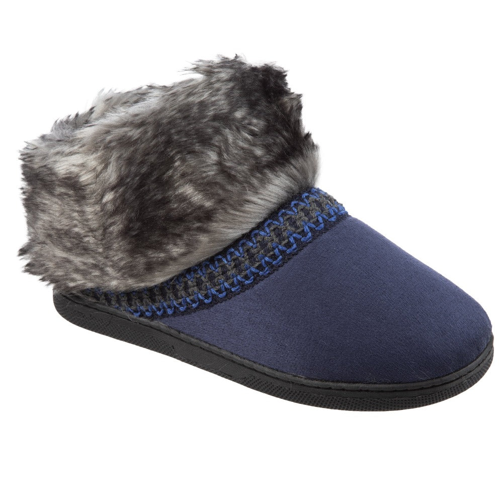 Isotoner Girls Wendi Slipper Boot in Navy BlueRight View
