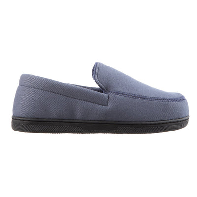 Boy's Chandler Moccasin Slippers in Ash Side Profile