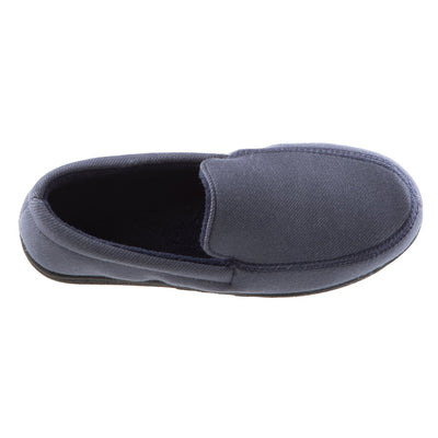 Boy's Chandler Moccasin Slippers in Ash Inside Top View