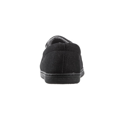Boy's Chandler Moccasin Slippers in Black Back Heel
