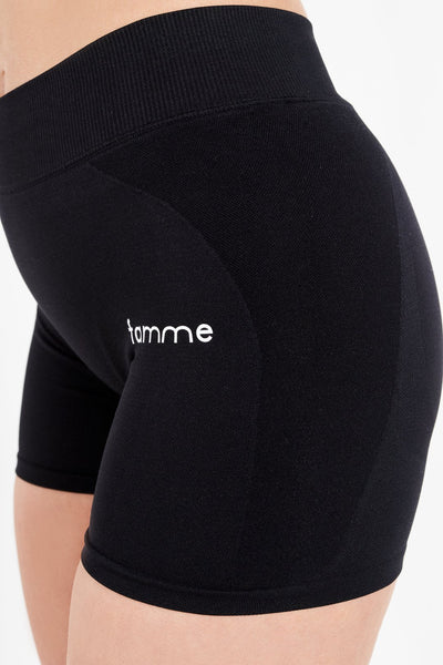 Black Seamless Shorts