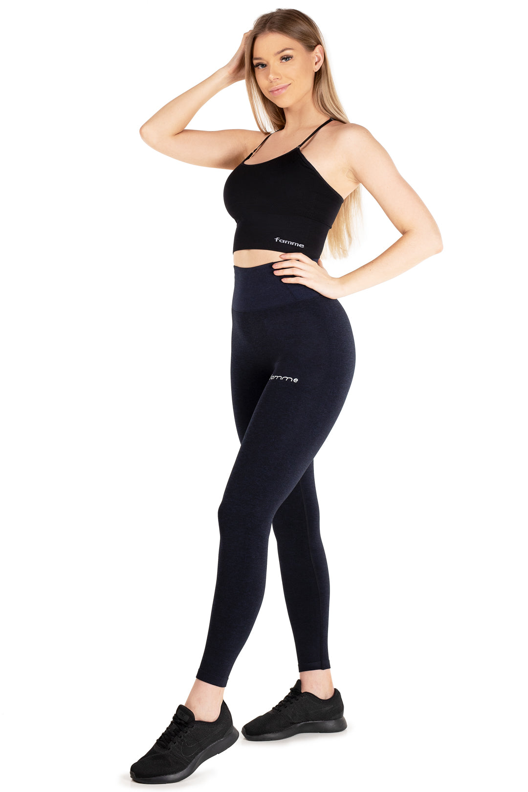 Shadow Blue Seamless Essential Tights
