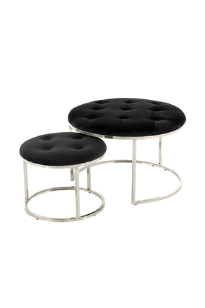 2er-Set Design-Hocker Hocker Becky 825 2er-Set Draufsicht