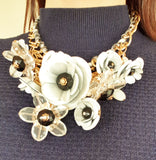 Floral Bouquet Necklace
