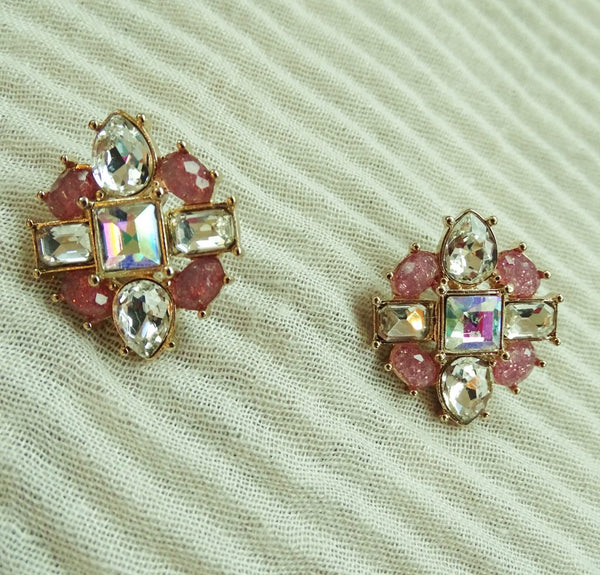 DAVIS Gem Stud Earrings