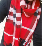 Plaid Scarf (Black or Red)