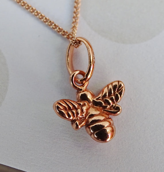 Bumble Bee Rosegold Plated Pendant