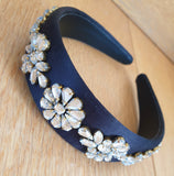 Rhinestone Flower Hairband