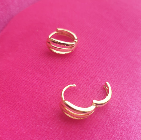 Huggie Gold Plated Earrings