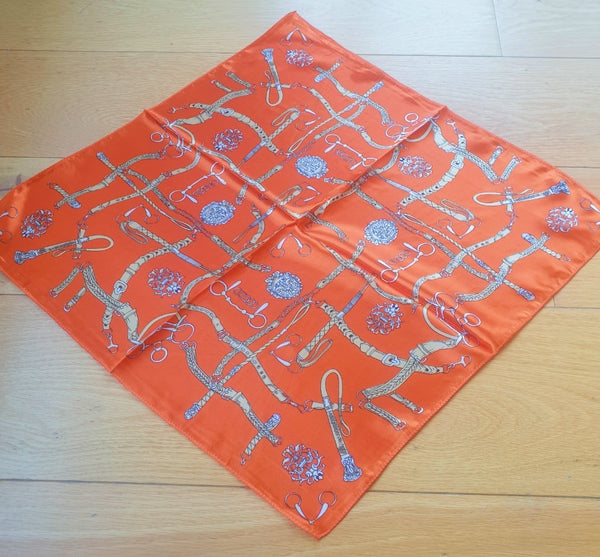 Orange Belt Print Scarf